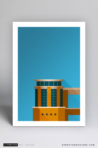 Minimalist Darrell K Royal–Texas Memorial Stadium