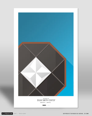 Minimalist Dean E. Smith Poster Print University of North Carolina - S Preston