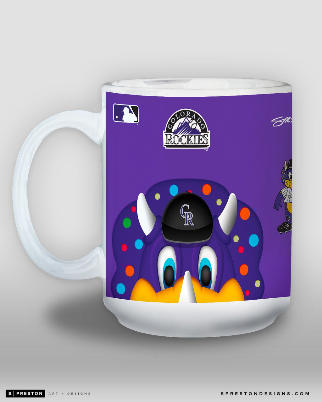 Minimalist Dinger Coffee Mug - MLB Licensed - Colorado Rockies Mascot