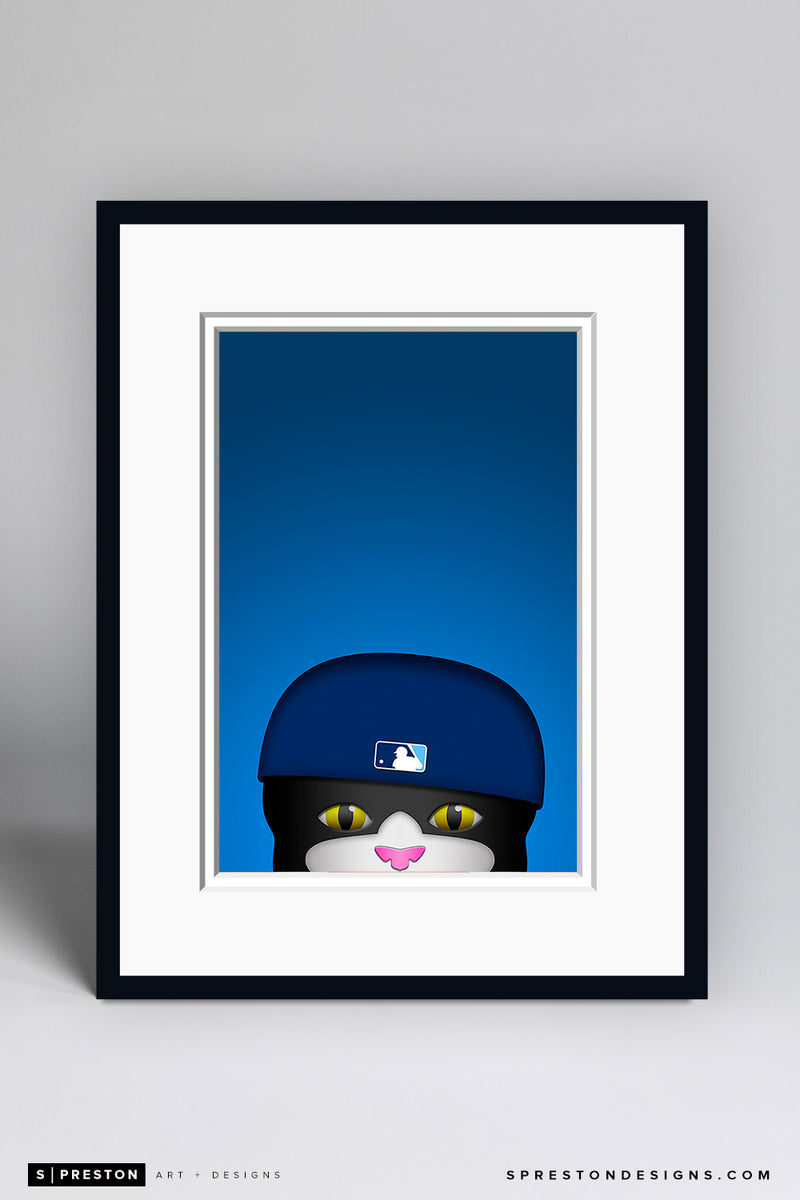 Minimalist DJ Kitty - Tampa Bay Rays - S. Preston