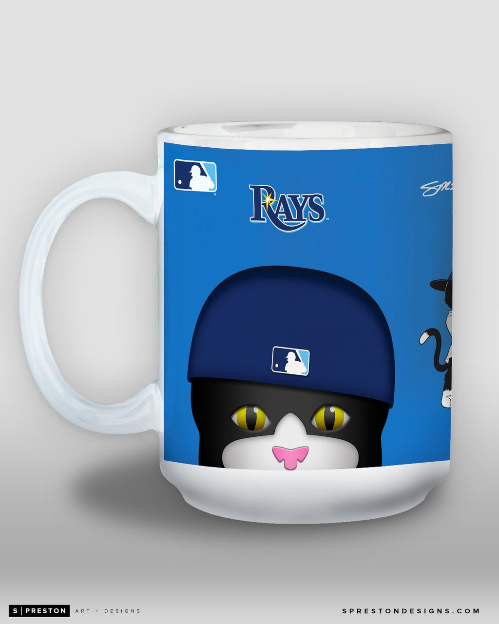 Minimalist DJ Kitty Coffee Mug - MLB Licensed - Tampa Bay Rays Mascot