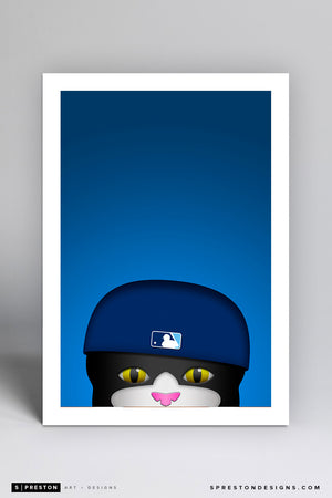 Minimalist DJ Kitty Art Print - Tampa Bay Rays - S. Preston Art + Designs