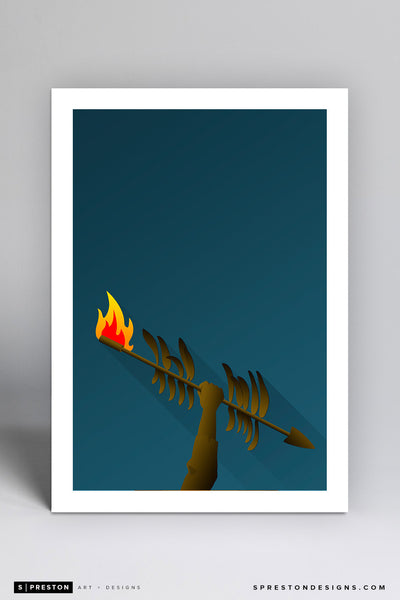 Minimalist Doak Campbell Stadium Art Print - Florida State University - S. Preston Art + Designs