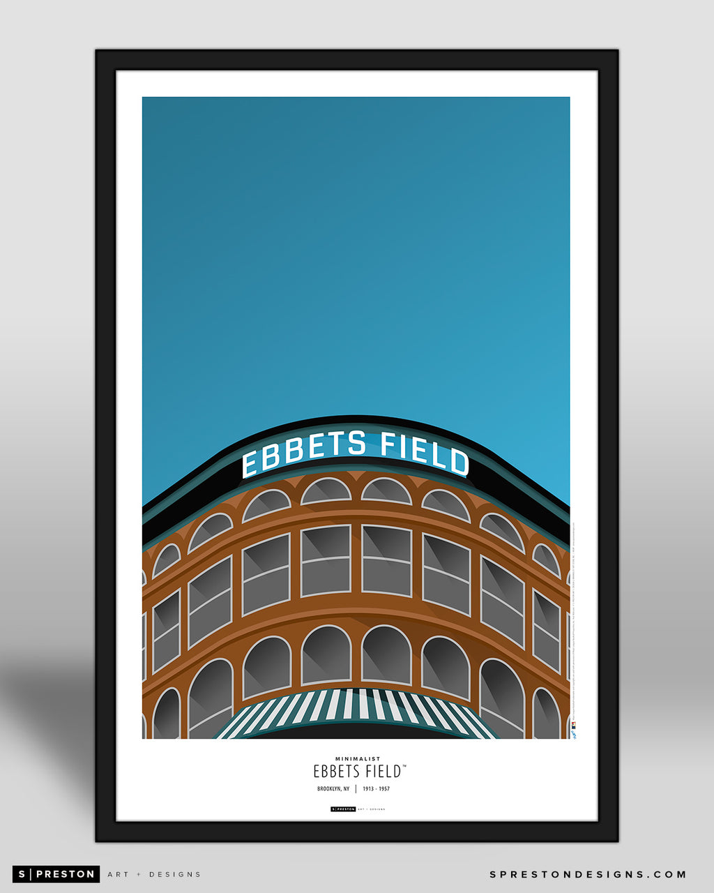 Minimalist Ebbets Field Poster Print Los Angeles Dodgers - S Preston