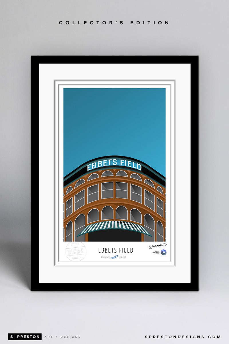 Minimalist Ebbets Field Art Print - Los Angeles Dodgers - S. Preston Art + Designs