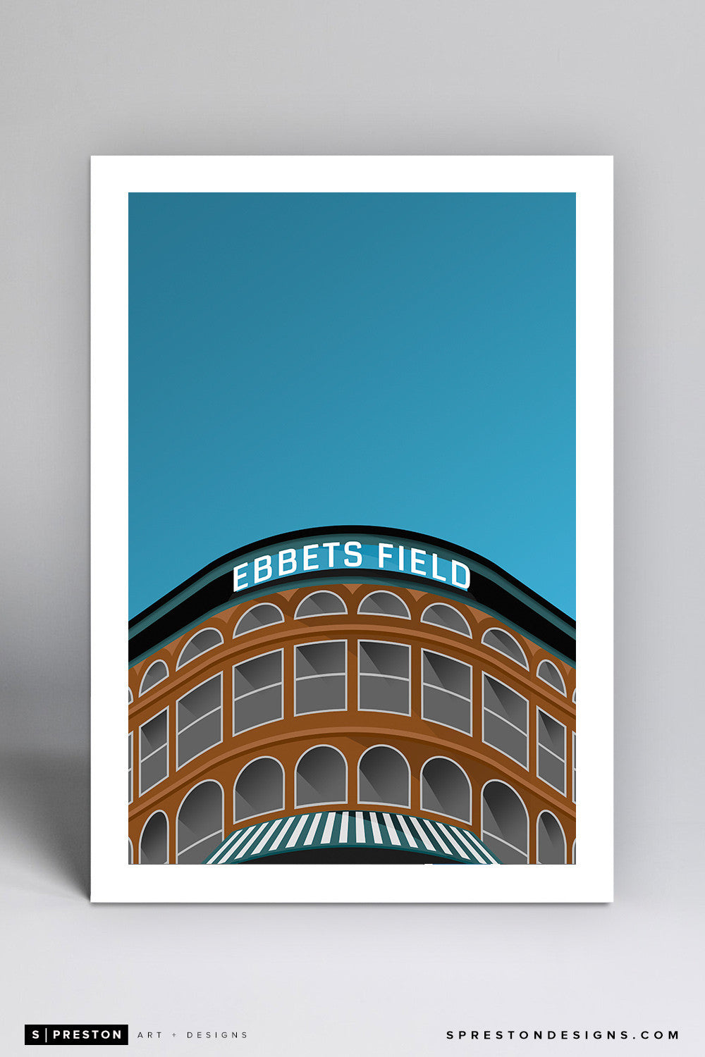 Minimalist Ebbets Field Small Print - Clearance Clearance - Los Angeles Dodgers - S. Preston Art + Designs