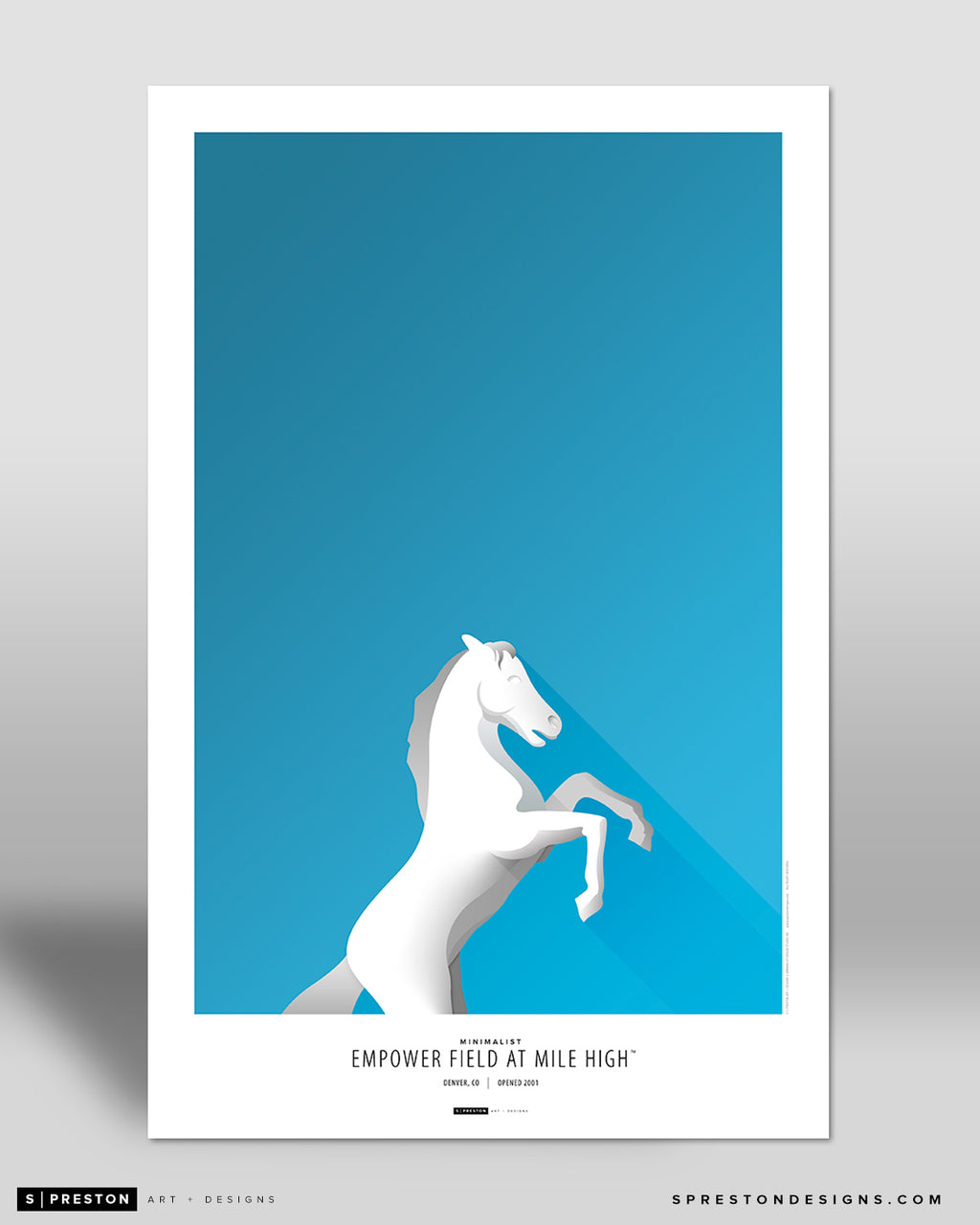 Minimalist Empower Field at Mile High Poster Print