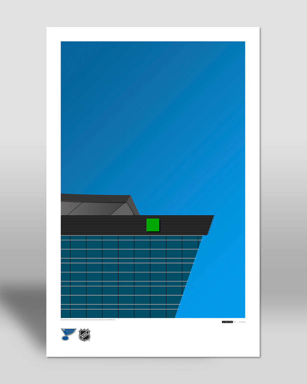 Minimalist Enterprise Center Poster Print St. Louis Blues - S Preston