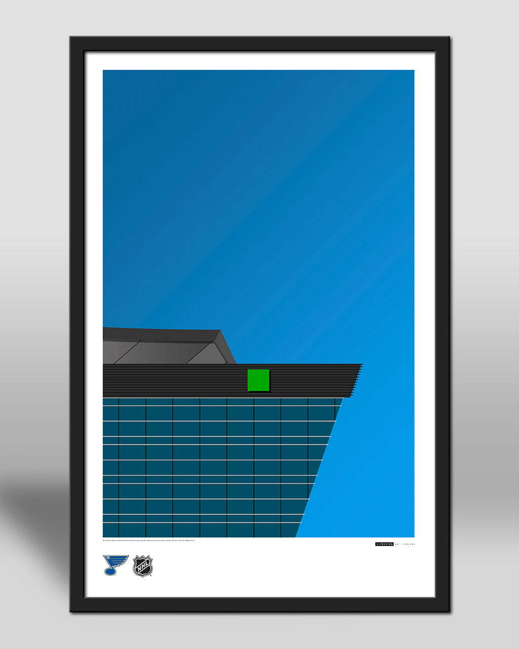 Minimalist Enterprise Center Art Poster
