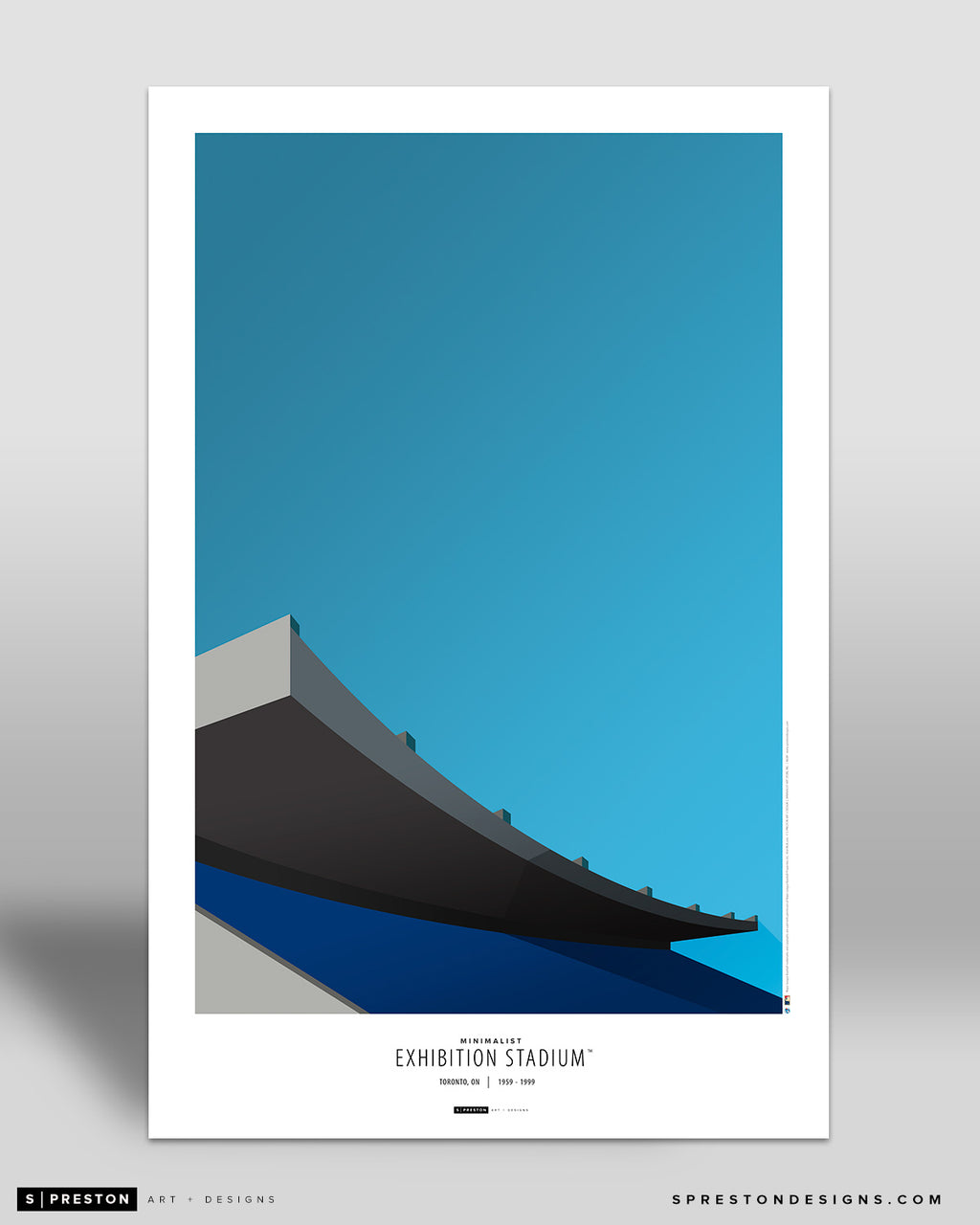 Minimalist Exhibition Stadium Poster Print Toronto Blue Jays - S Preston