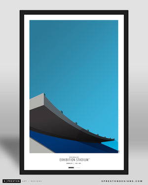 Minimalist Exhibition Stadium Art Poster