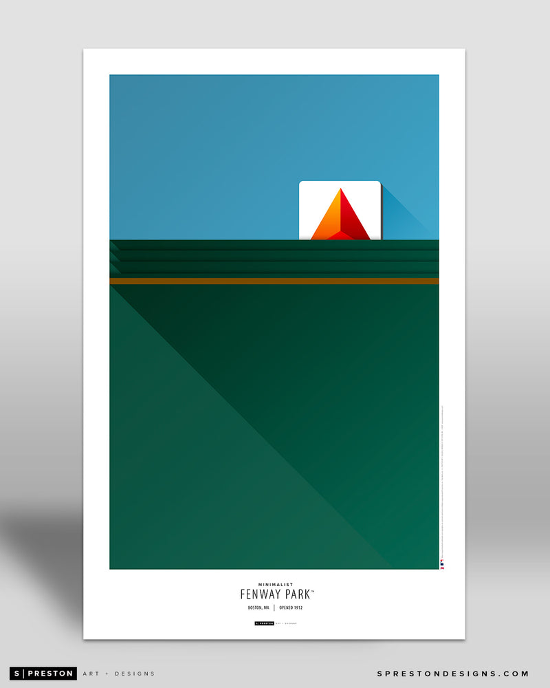 Minimalist Fenway Park Art Poster - CLEARANCE