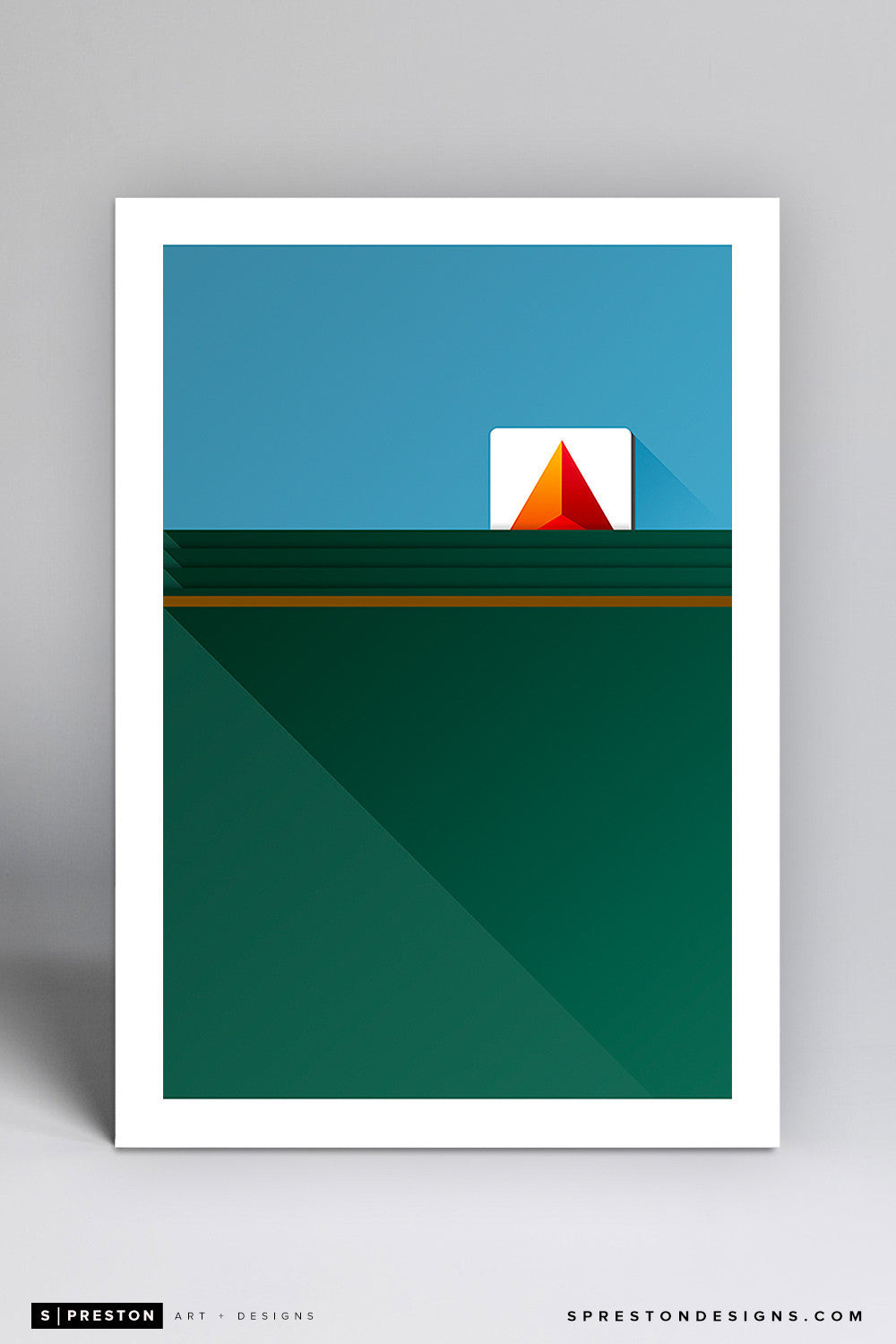 Minimalist Fenway Park Art Print - Boston Red Sox - S. Preston Art + Designs