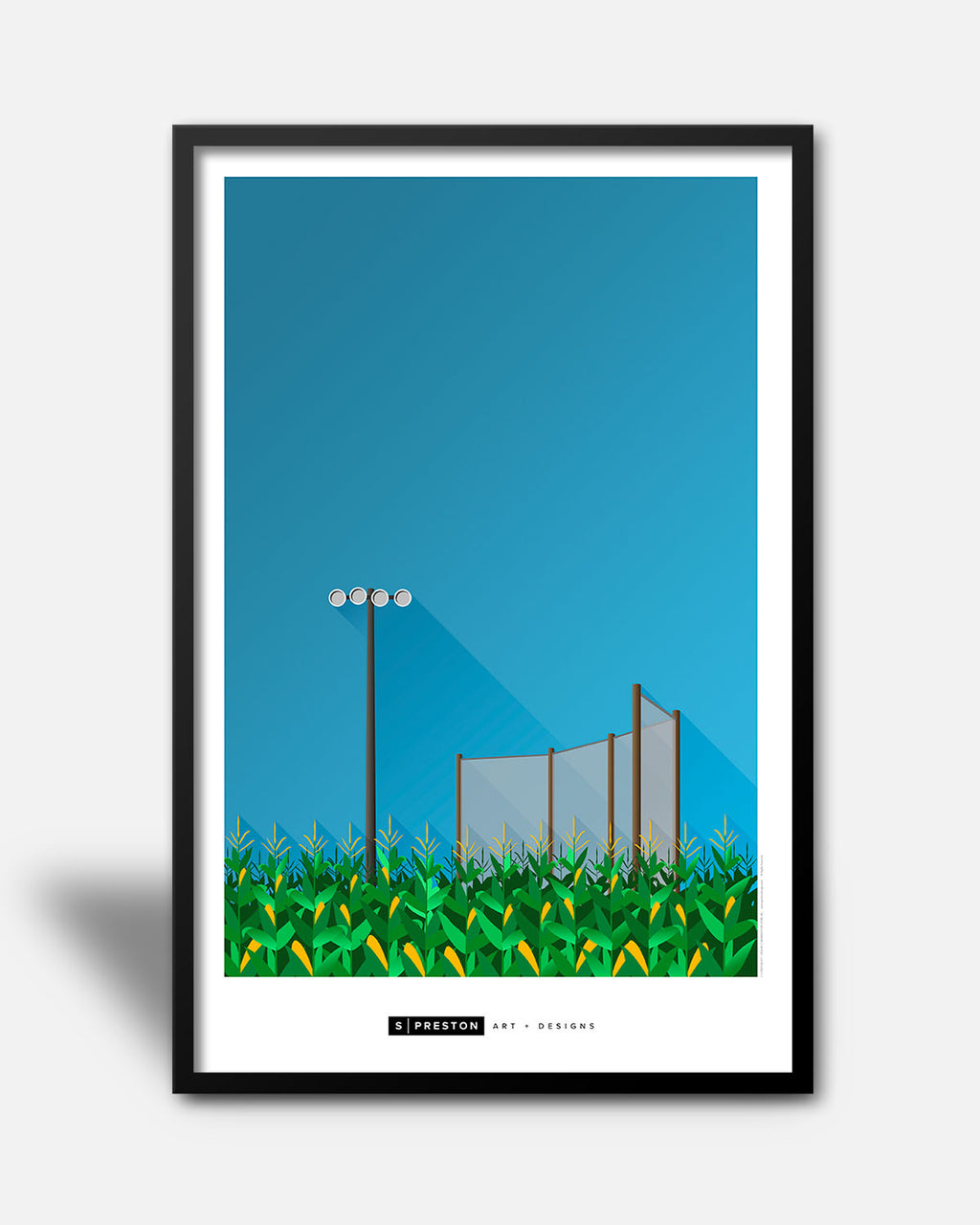 Minimalist Field Of Dreams Park Art Poster