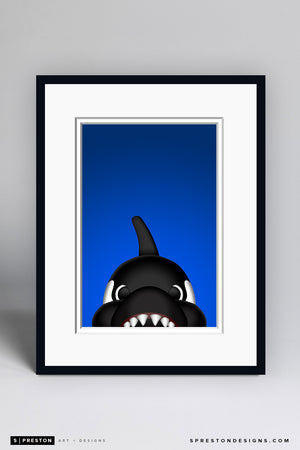 Minimalist Fin Art Print - Vancouver Canucks - S. Preston Art + Designs