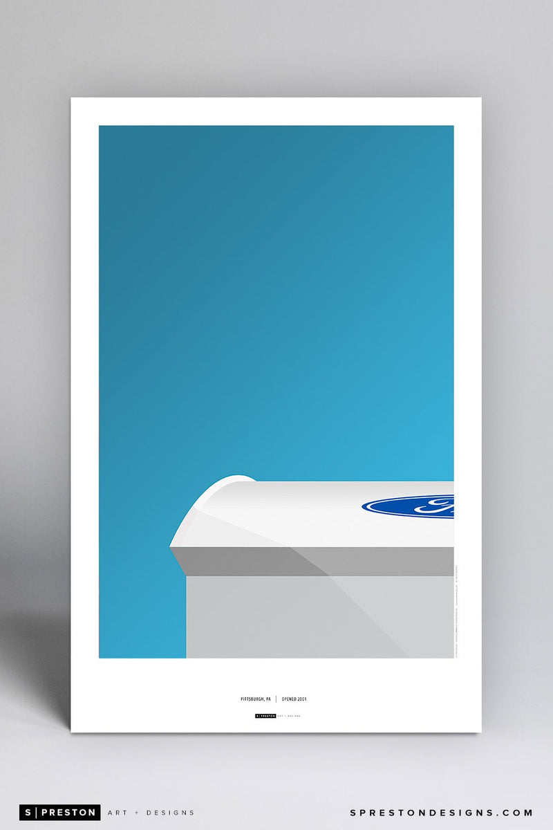 Minimalist Ford Field Art Poster Art Poster - Detroit Lions - S. Preston Art + Designs