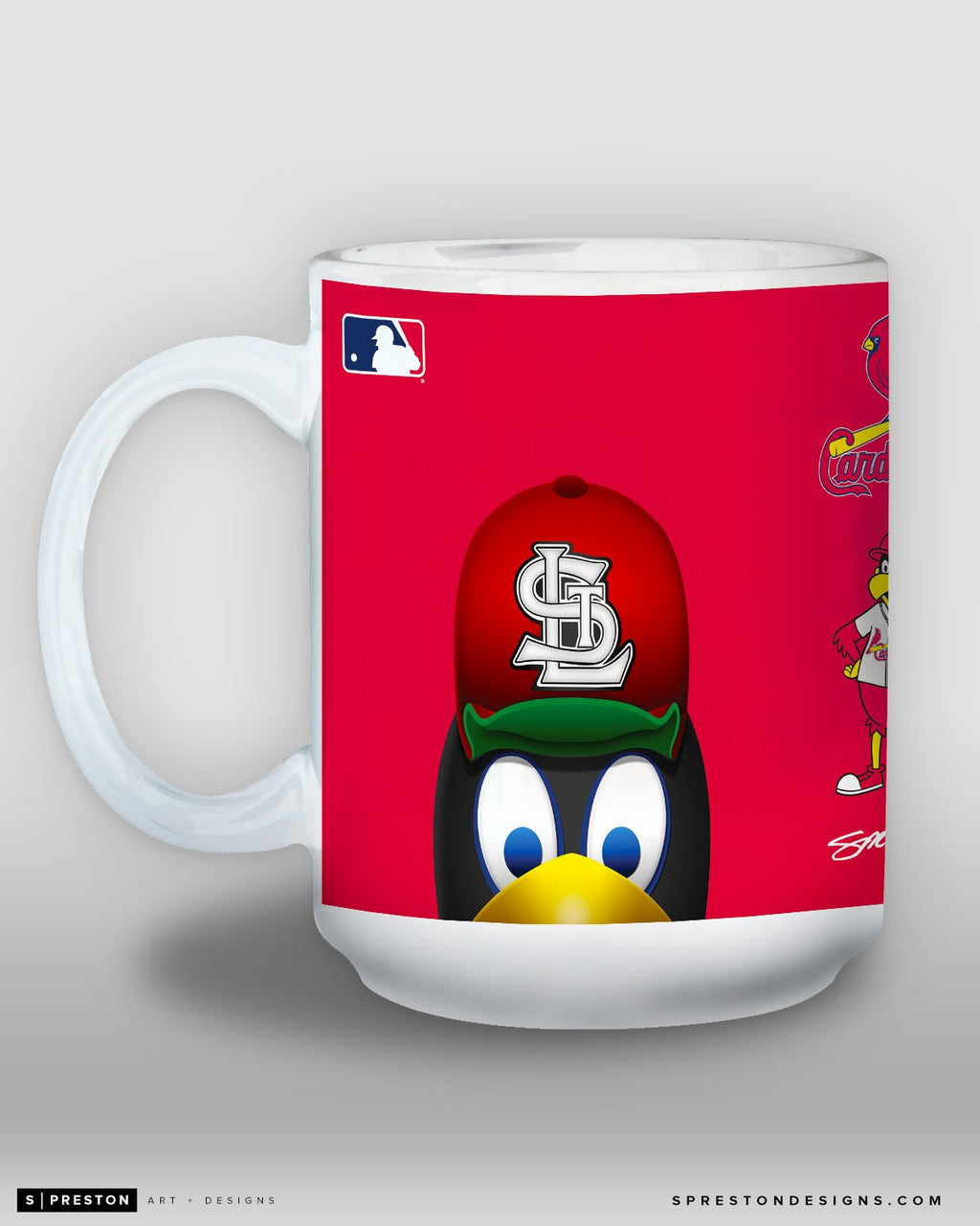 Minimalist Fredbird Coffee Mug - MLB Licensed - St. Louis Cardinals Mascot