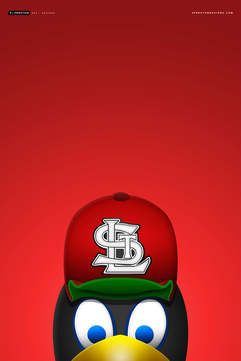 Minimalist Fredbird Value Canvas Value Canvas - St. Louis Cardinals - S. Preston Art + Designs