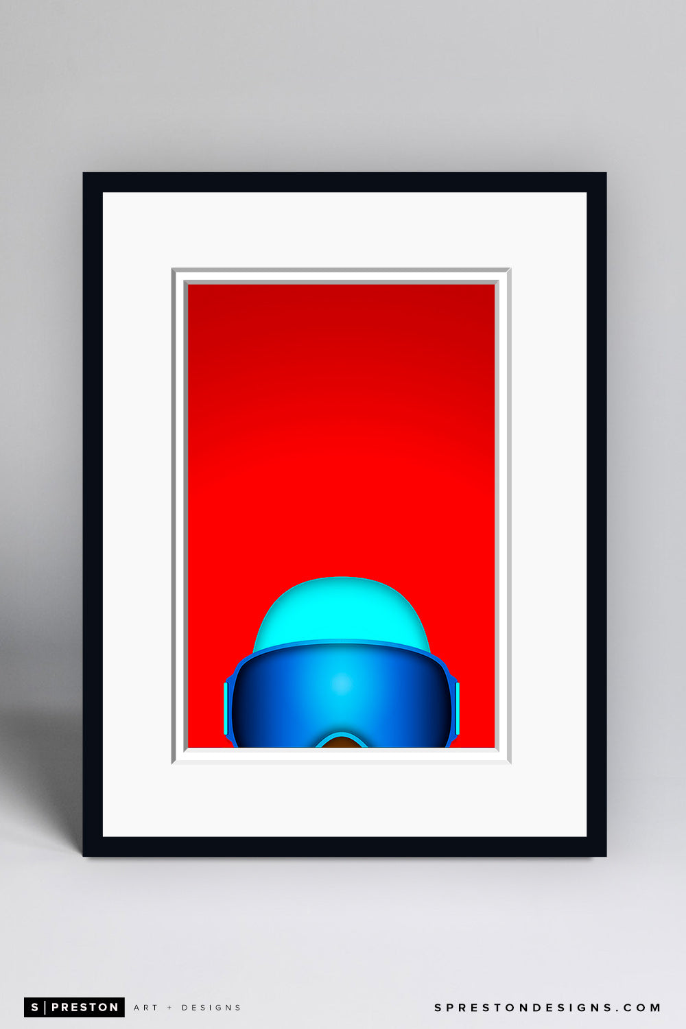 Minimalist The Freeze - Altanta Braves Art Print - Atlanta Braves - S. Preston Art + Designs