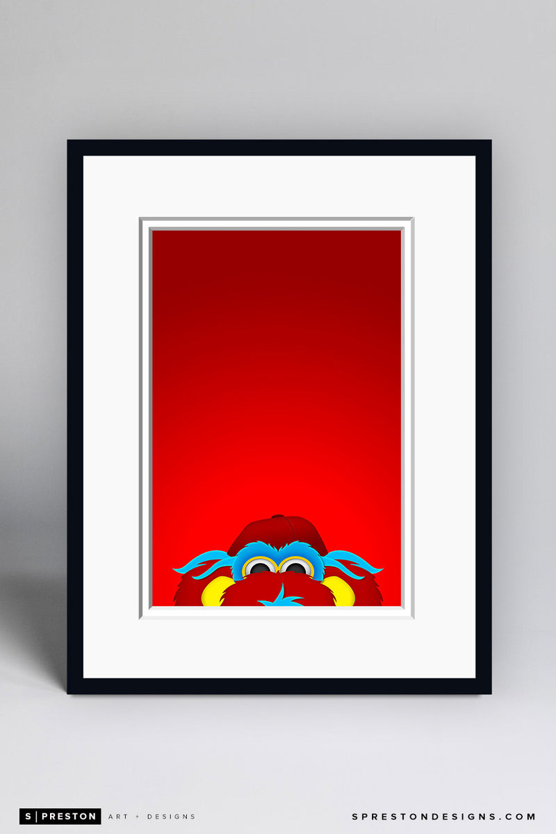 Minimalist Gapper Art Print - Cincinnati Reds - S. Preston Art + Designs