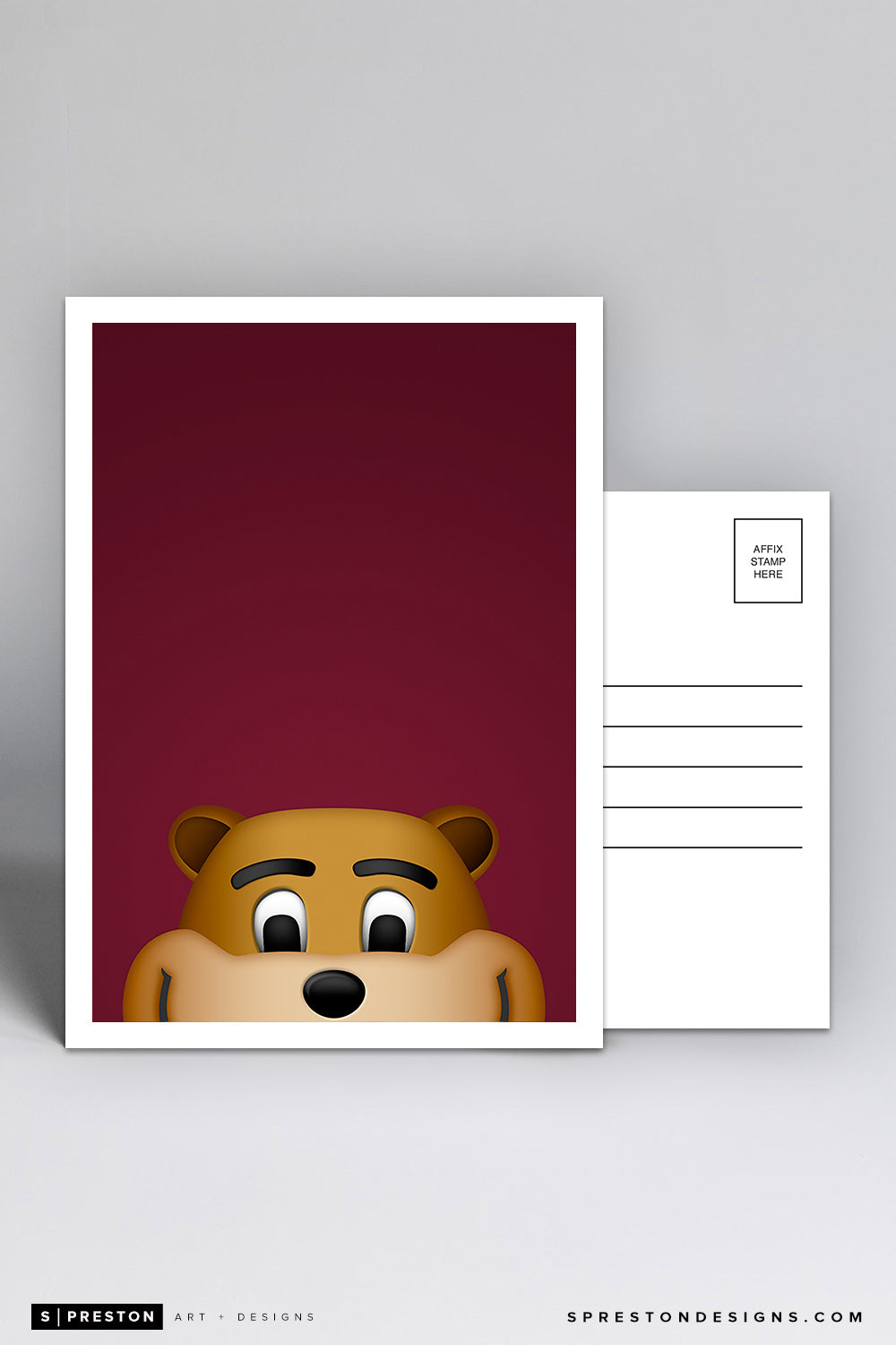 Minimalist Goldy Gopher Postcard University of Minnesota - S. Preston