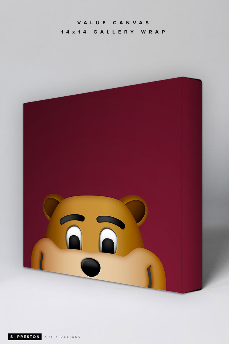 Minimalist Goldy Gopher Value Canvas