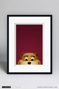 Minimalist Goldy Gopher - University of Minnesota - S. Preston