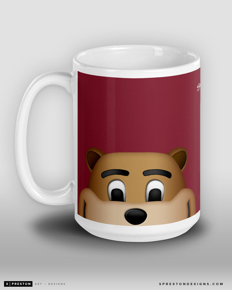 Minimalist Goldie The Gopher Coffee Mug