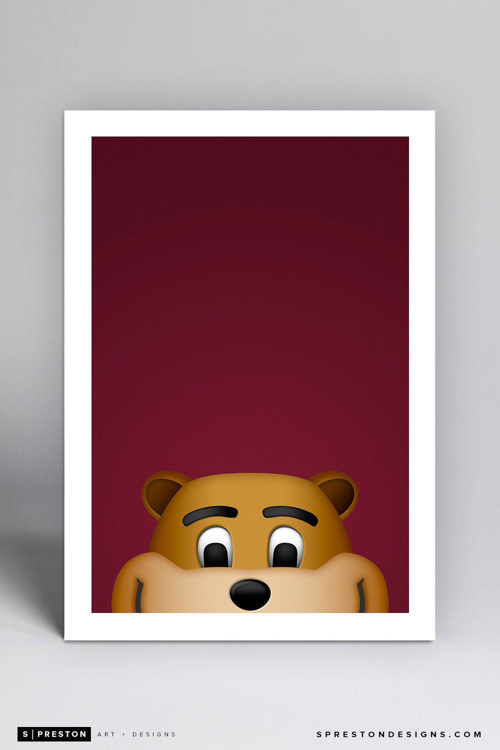 Minimalist Goldy Gopher Art Print - University of Minnesota - S. Preston Art + Designs