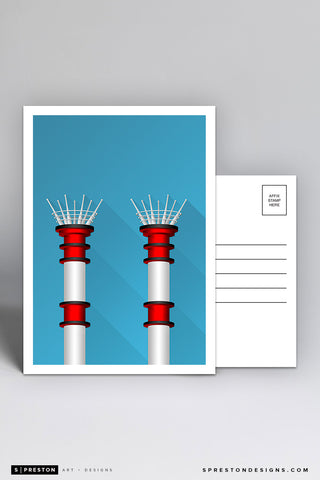 Minimalist Great American Ball Park Postcard