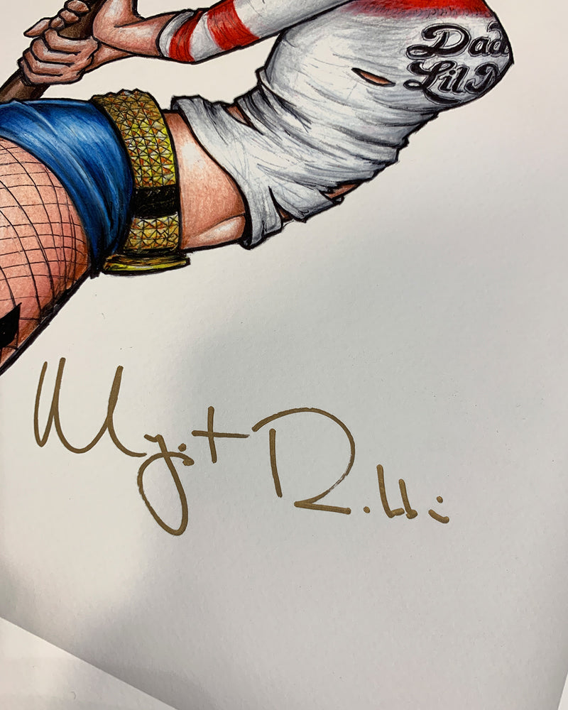 Part Of Your (Crazy) World - Margot Robbie Autographed Sketch Print