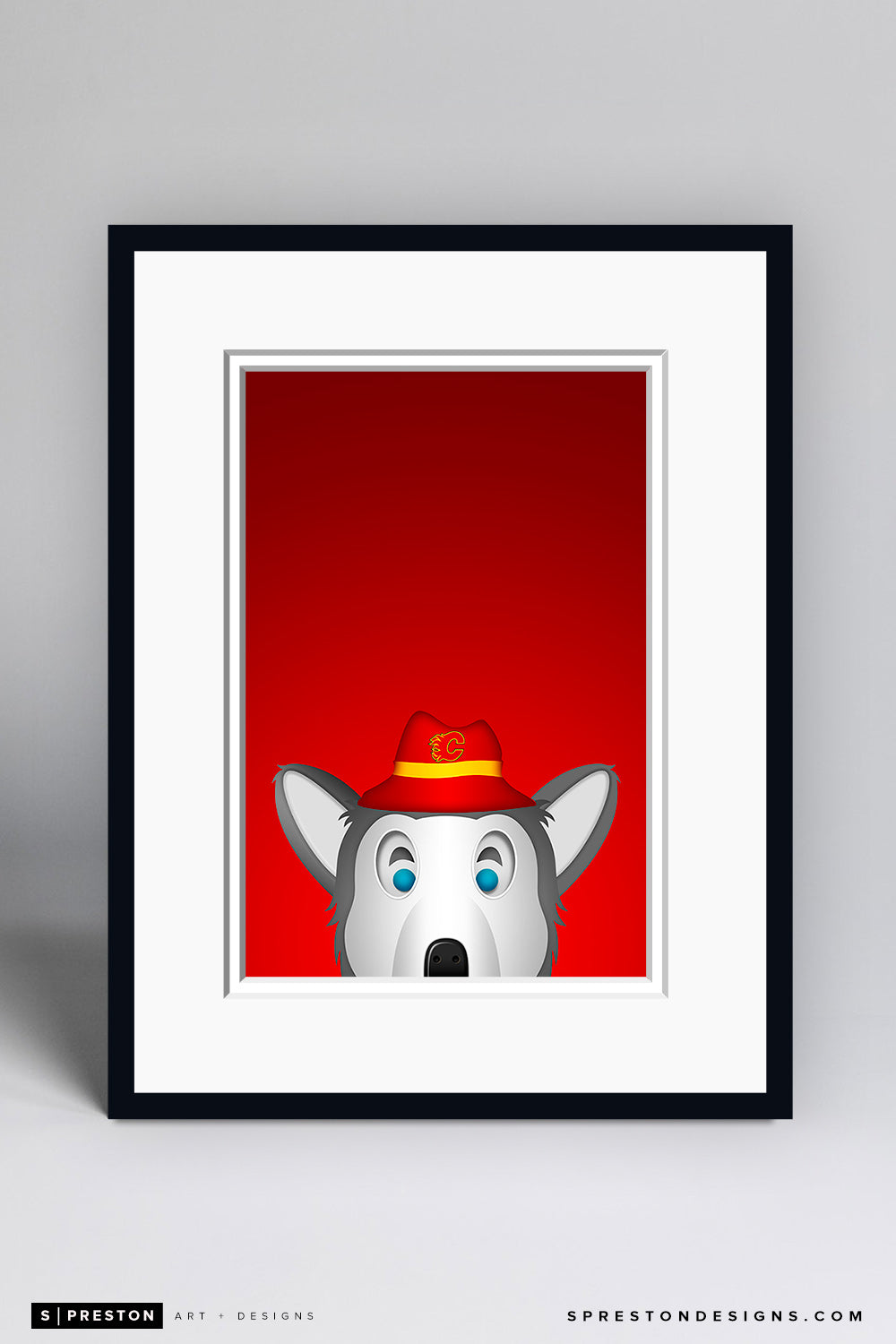 Minimalist Harvey The Hound - Calgary Flames - S. Preston