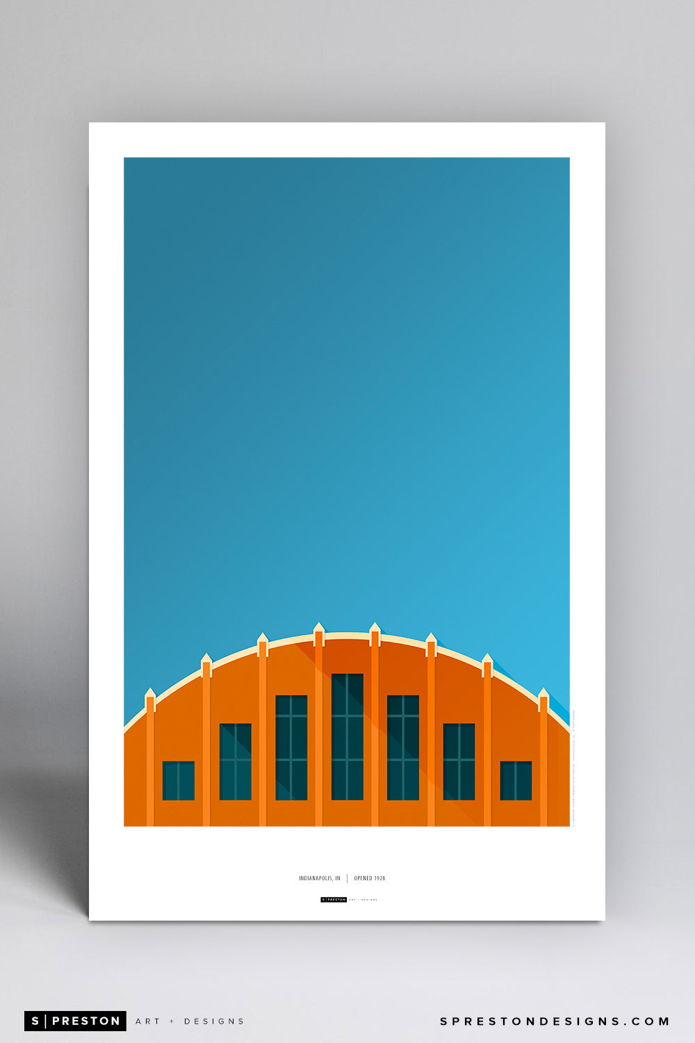 Minimalist Hinkle Fieldhouse Art Poster - Butler Art Poster - Butler University - S. Preston Art + Designs