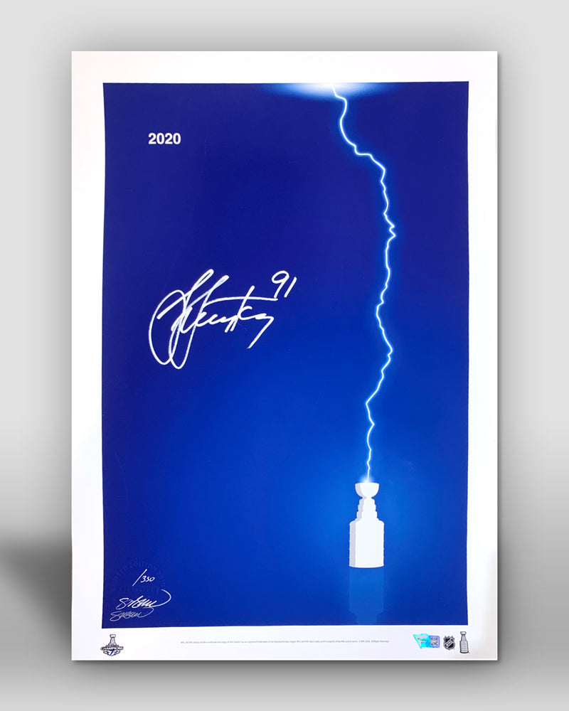 Minimalist Stanley Cup 2020 - Steven Stamkos Signed - Authenticated
