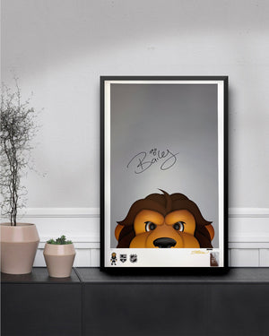 Minimalist Bailey Poster Print - Signed