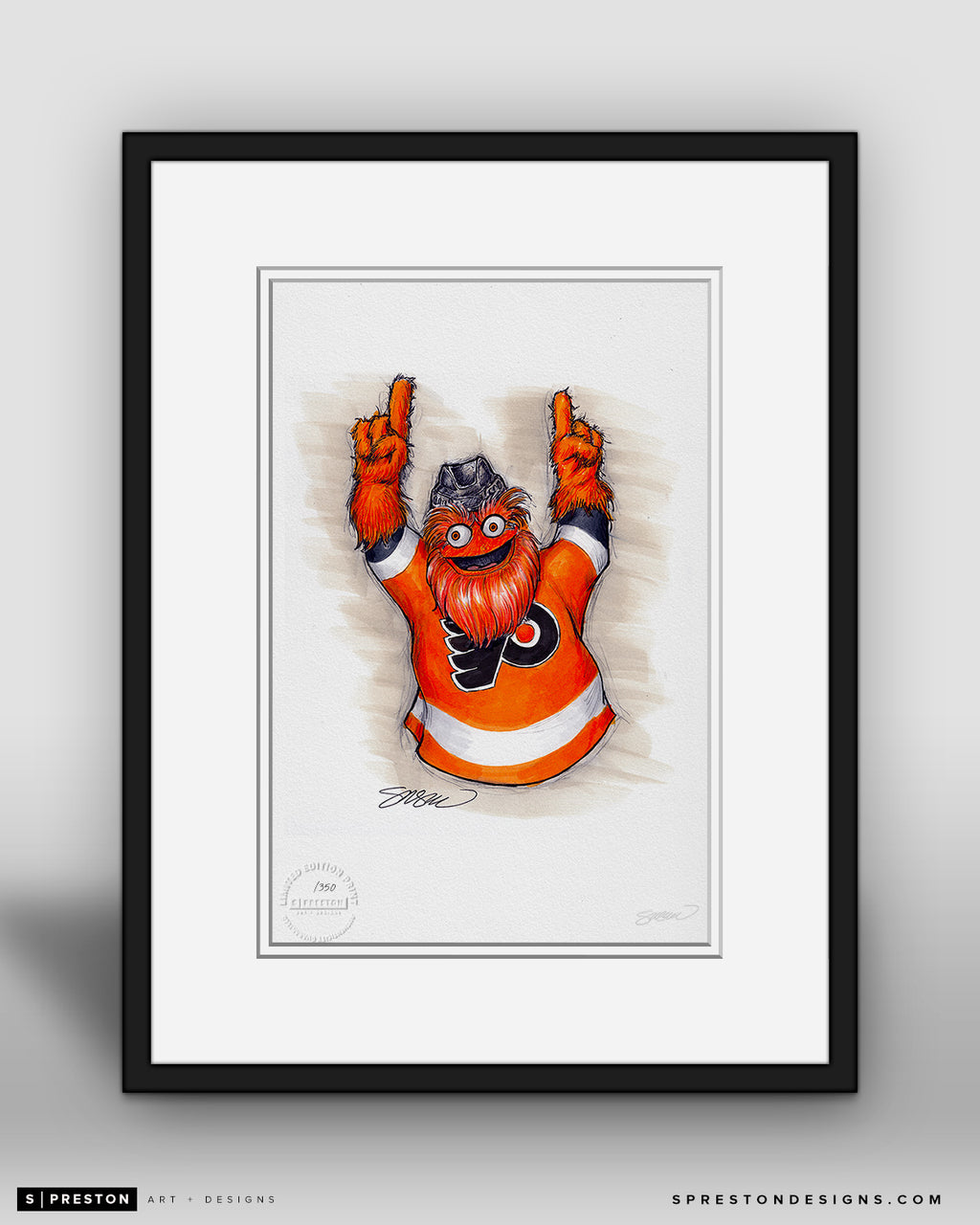 Gritty - Philadelphia Flyers Mascot Ink Sketch Print