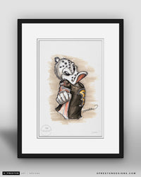 Wild Wing - Anaheim Ducks Mascot Ink Sketch Print