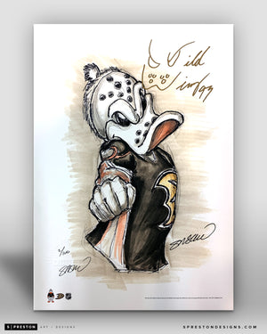 Wild Wing Mascot Sketch Fine Art Print - Signed