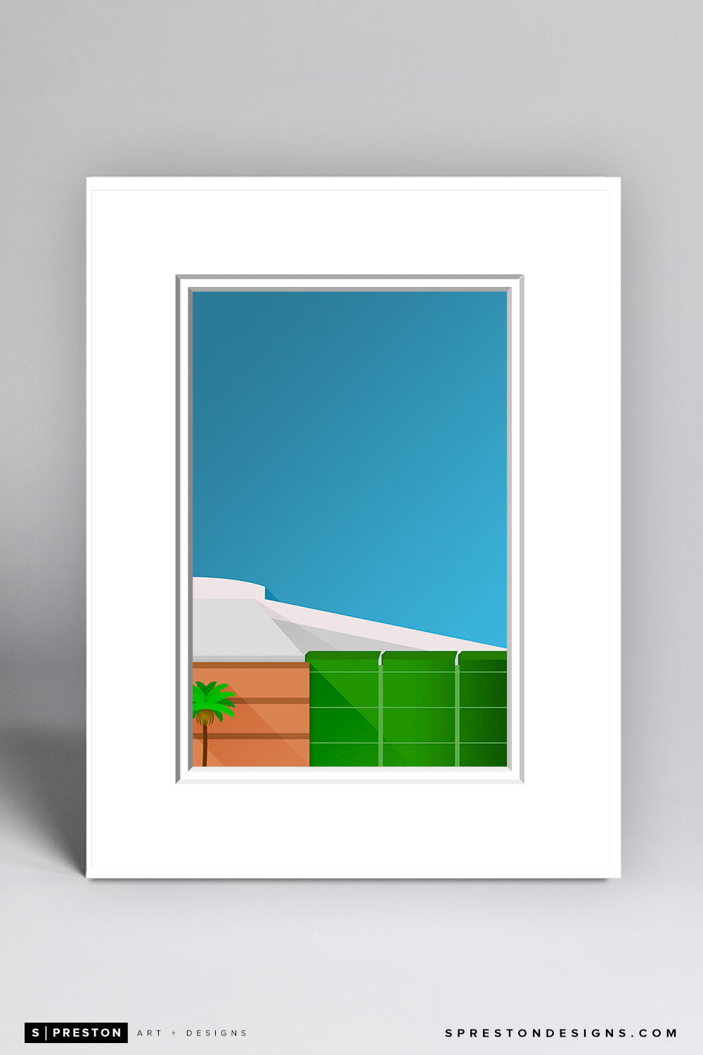 Minimalist Honda Center Matted Art Poster - CLEARANCE