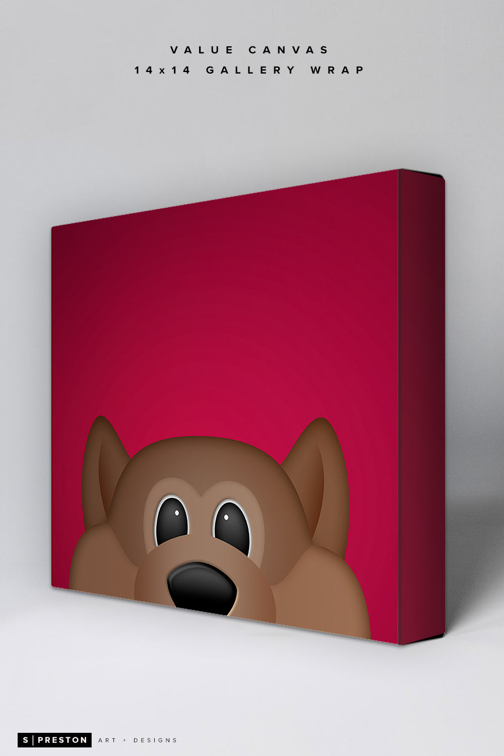 Minimalist Howler Value Canvas