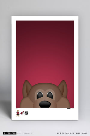 Minimalist Howler Art Poster Art Poster - Arizona Coyotes - S. Preston Art + Designs