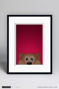 Minimalist Howler Art Print - Arizona Coyotes - S. Preston Art + Designs