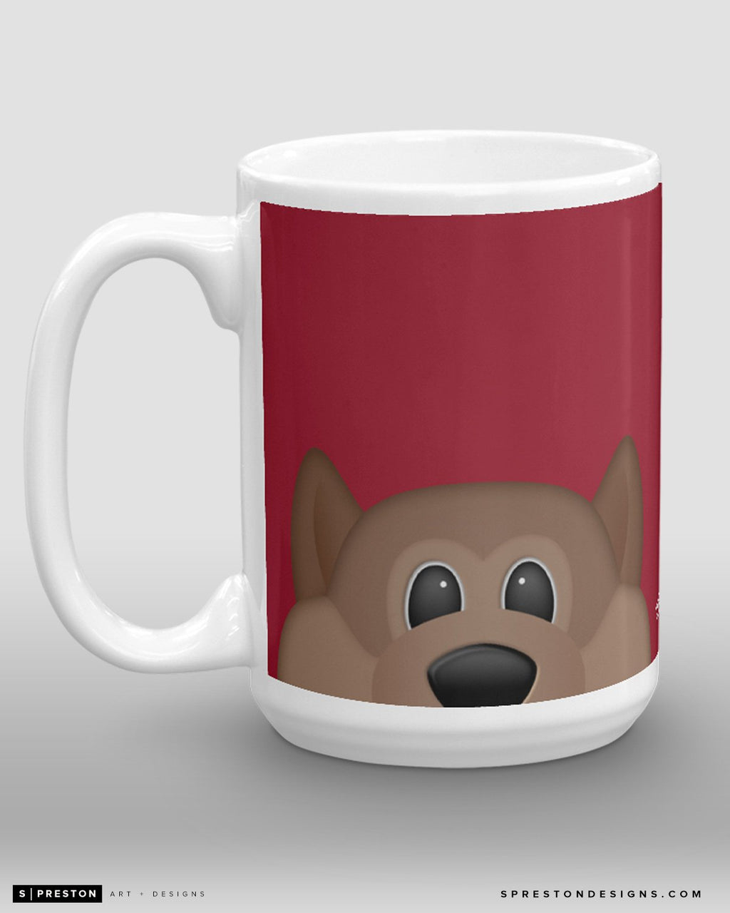 Minimalist Howler Coffee Mug - NHL Licensed - Arizona Coyotes Mascot