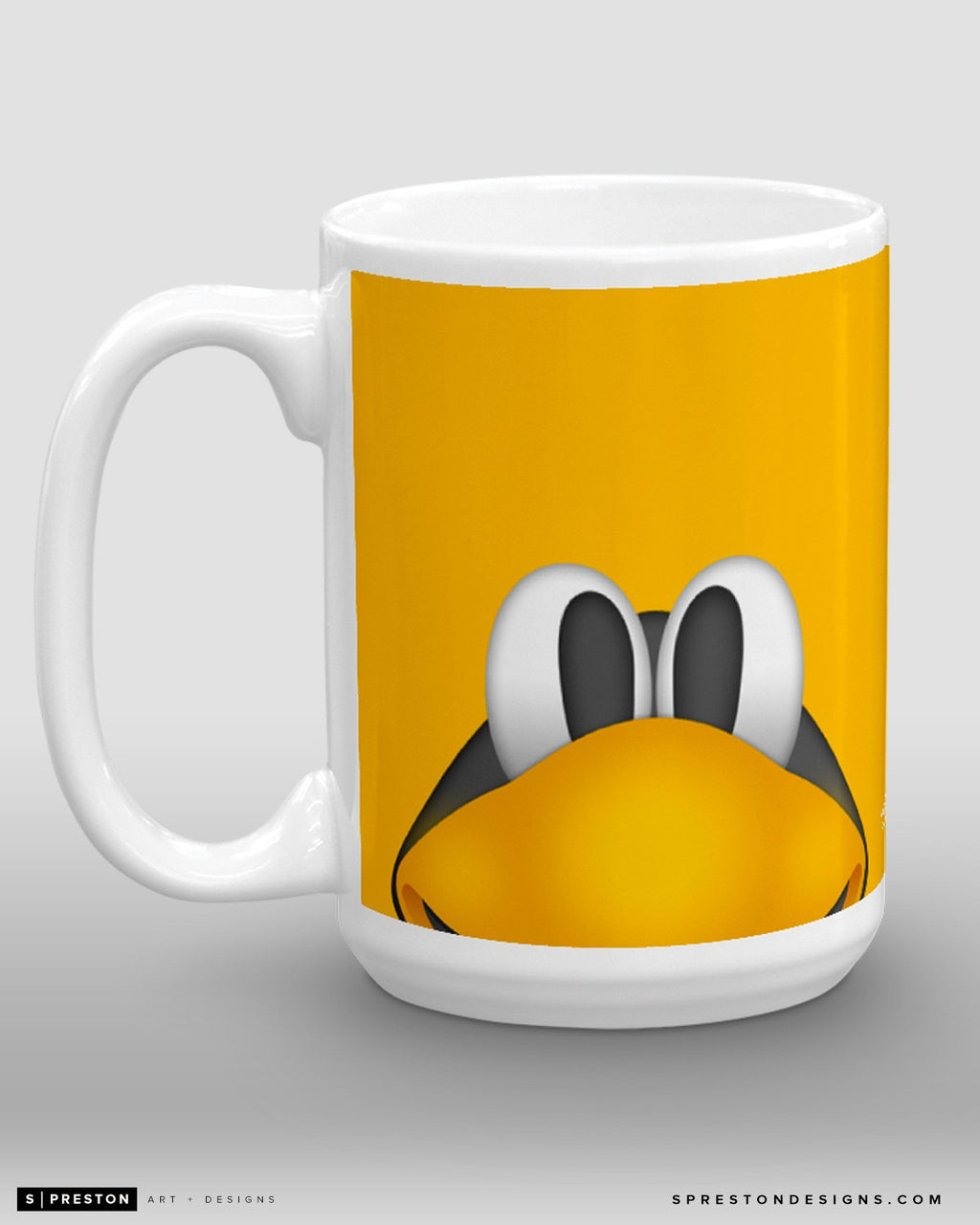 Minimalist Iceburgh Coffee Mug - NHL Licensed - Pittsburgh Penguins Mascot