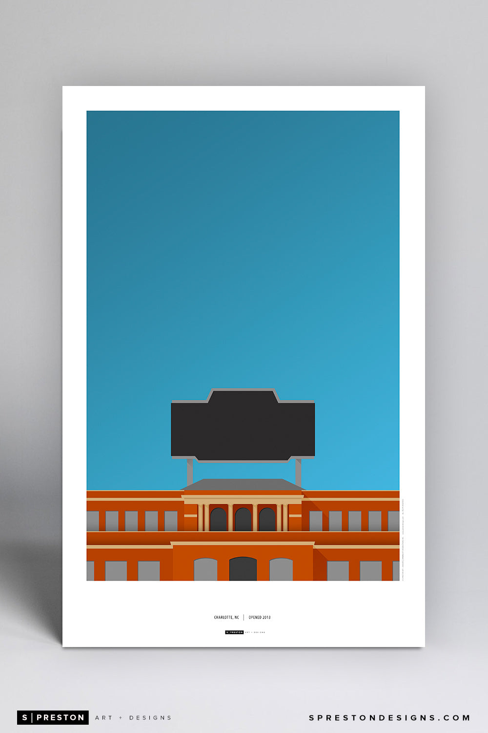 Minimalist Jerry Richardson Stadium Poster Print UNC at Charlotte - S Preston