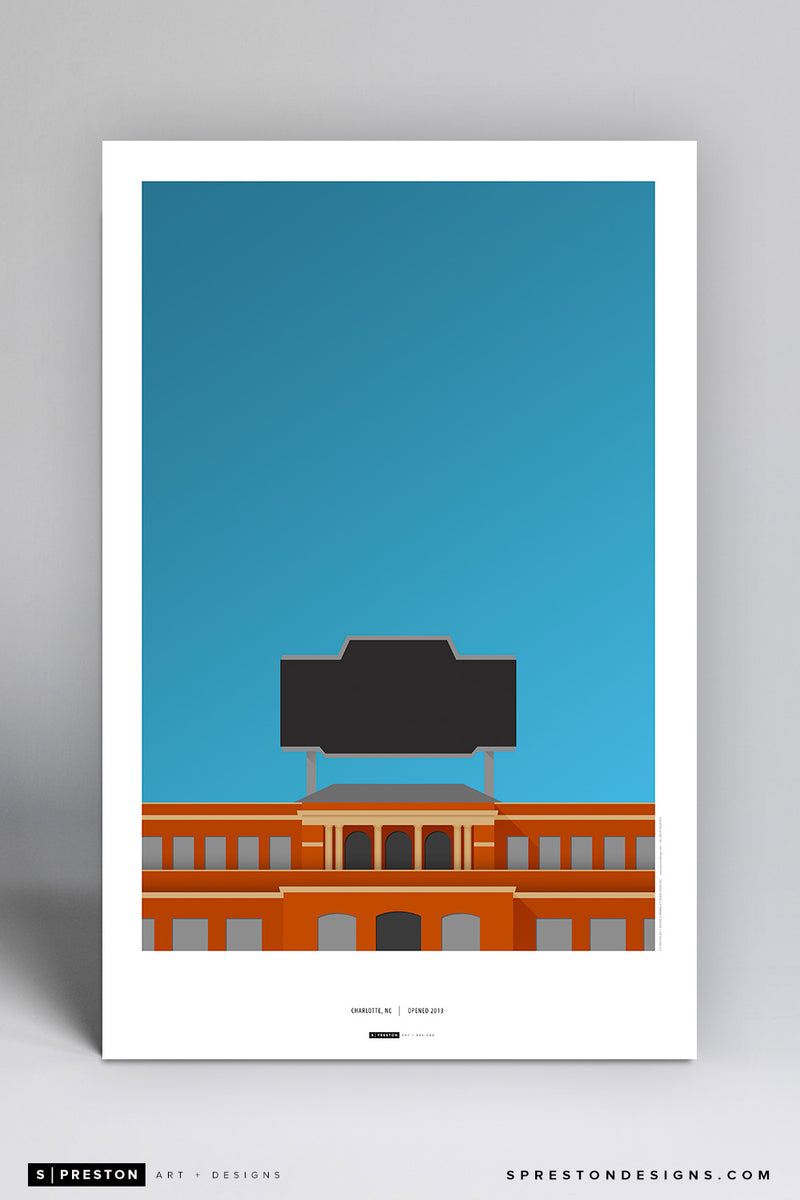 Minimalist Jerry Richardson Stadium Poster Print - UNC at Charlotte - S. Preston Art + Designs