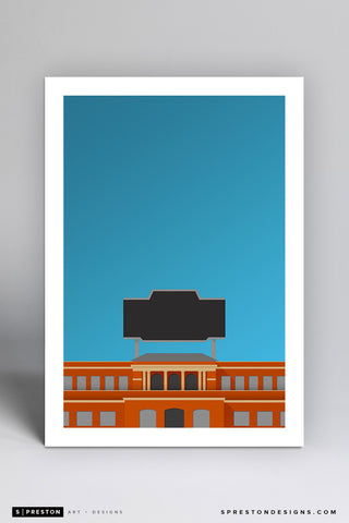 Minimalist Jerry Richardson Stadium Art Print - UNC at Charlotte - S. Preston Art + Designs