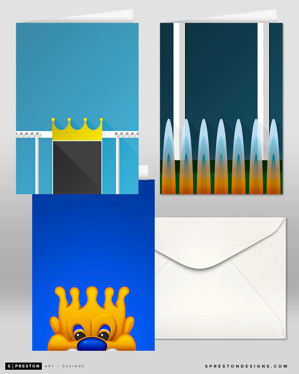 Minimalist Kansas City Royals Note Card Set