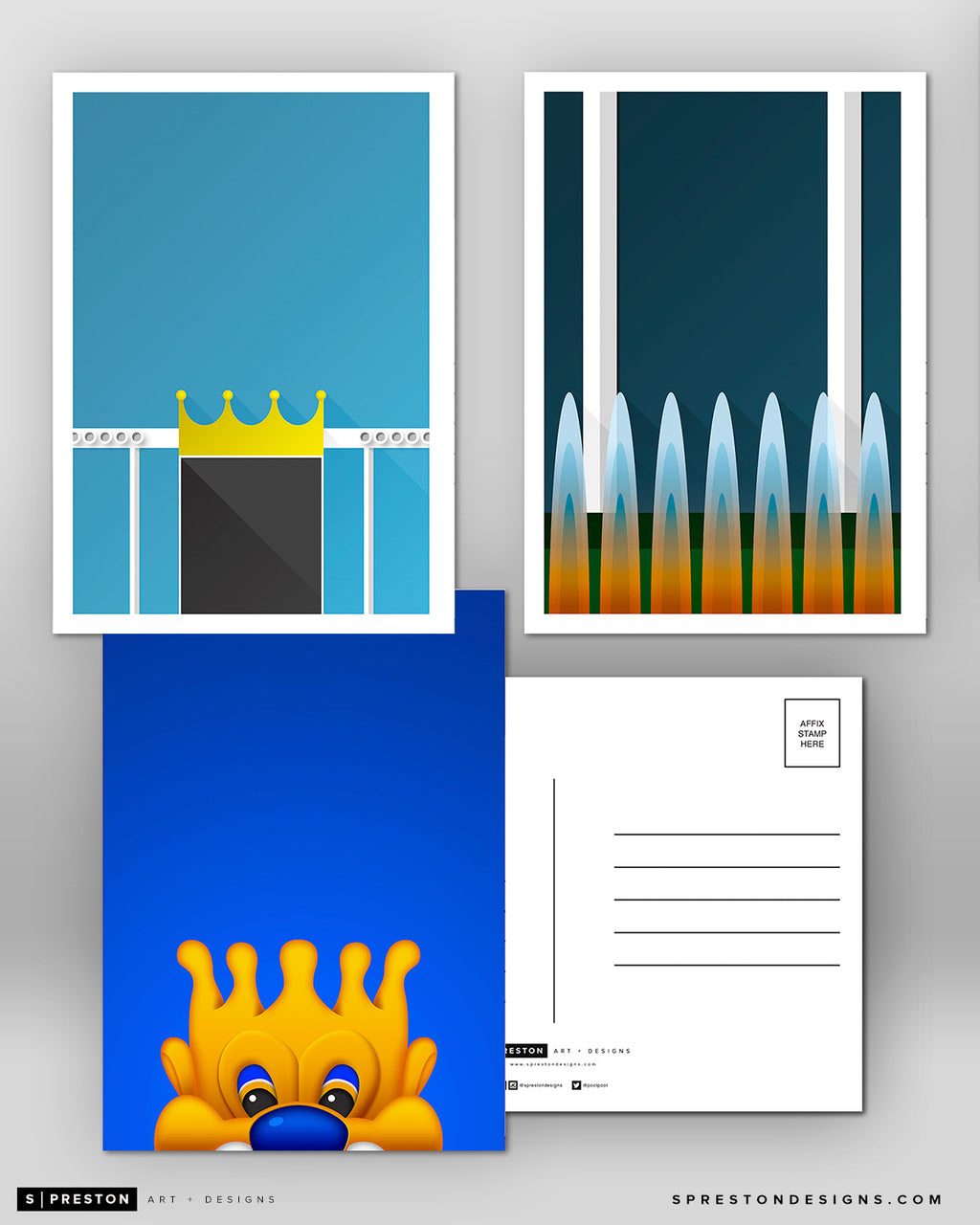 Minimalist Kansas City Royals Postcard Set Kansas City Royals