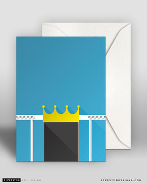 Minimalist Kauffman Stadium Note Card
